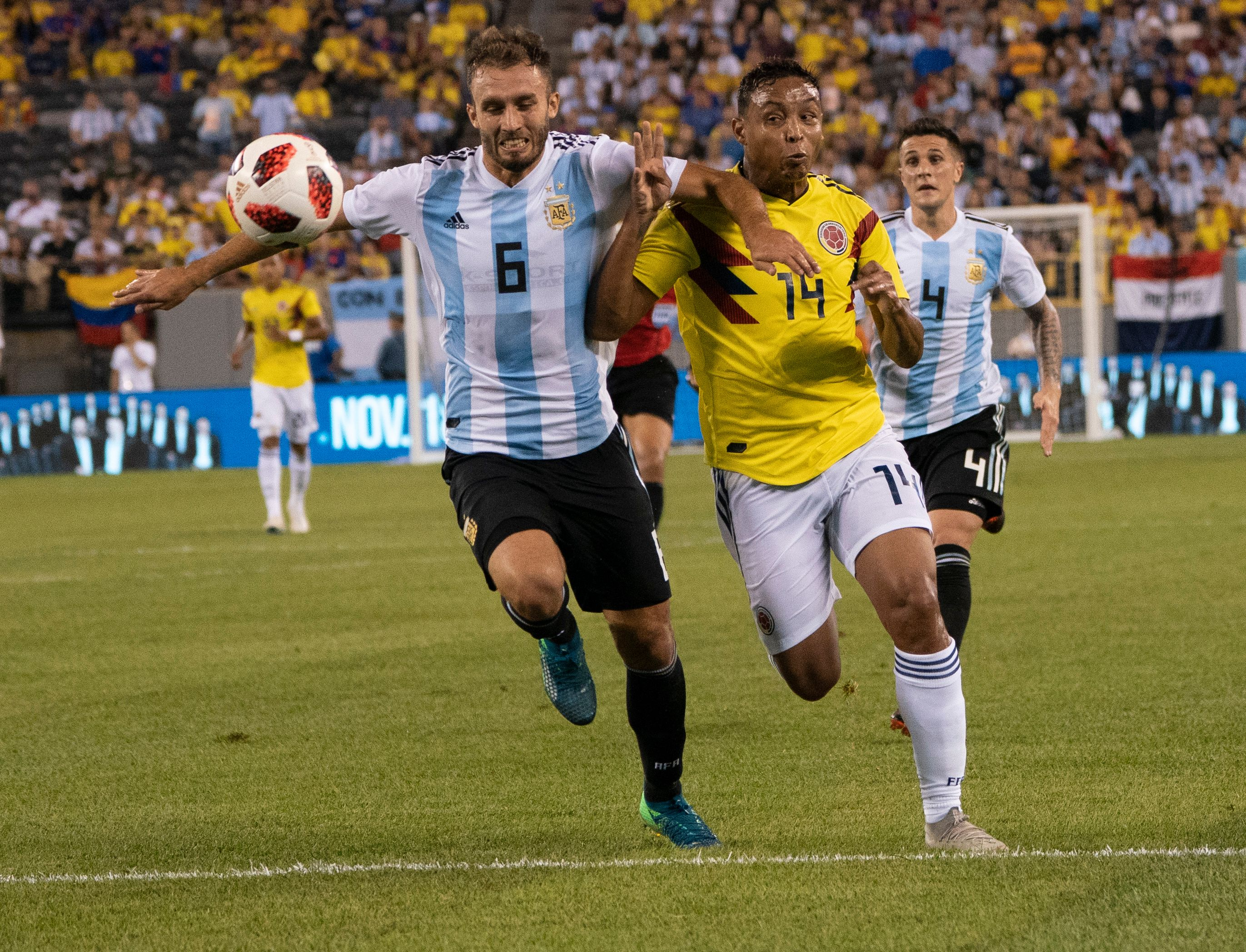 Luis Muriel Colombia - Argentina Amistoso 2018