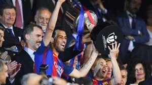 Sergio Busquets Andres Iniesta Barcelona Alaves Copa del Rey 27052017