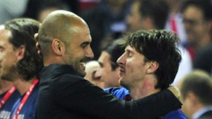 Pep Guardiola Lionel Messi Barcelona 25052012