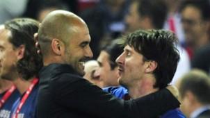 Pep Guardiola Lionel Messi Barcelona 25052012