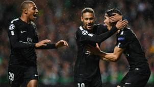 Neymar Mbappe Cavani Celtic PSG UCL 12092017