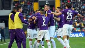 Fiorentina celebrating Udinese Serie A