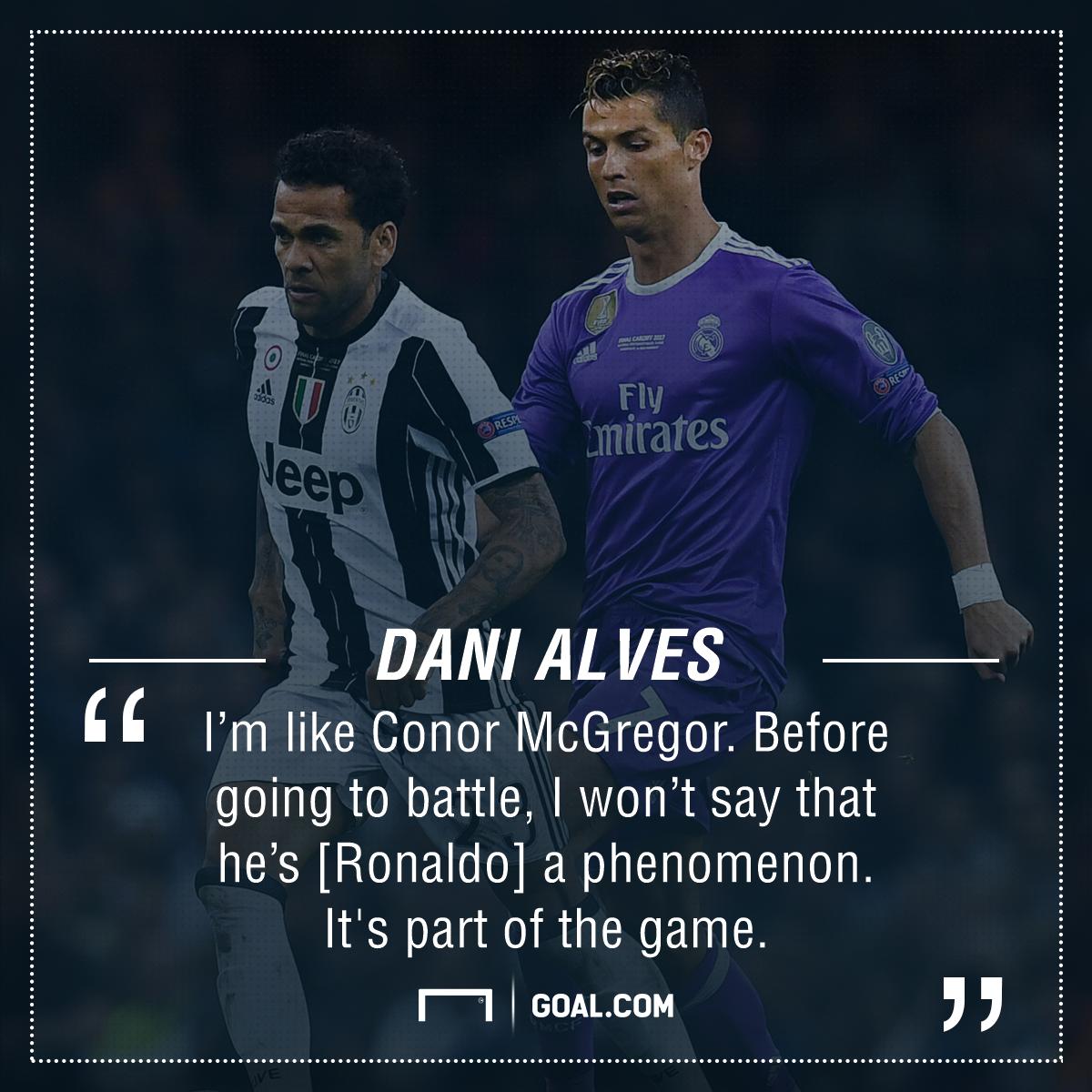 Dani Alves Cristiano Ronaldo Conor McGregor