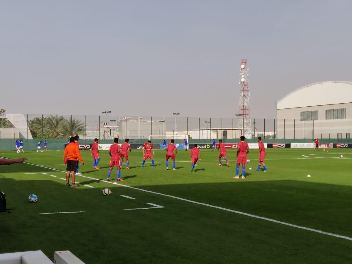 India UAE Training Asian Cup 2019