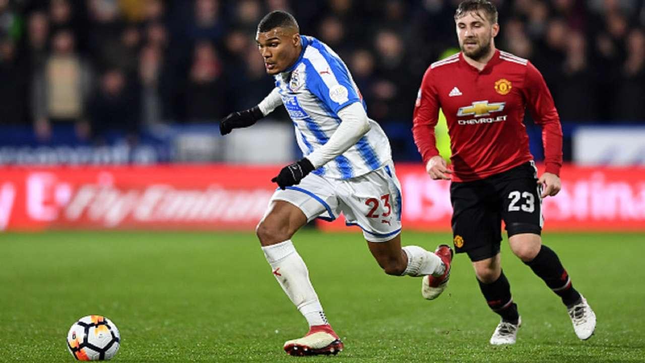 Luke Shaw Manchester United Collin Quaner Huddersfield Town.