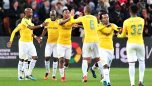 Sibusiso Vilakazi celebrates Sundowns goal against Barcelona - May 16 2018