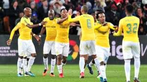 Sibusiso Vilakazi celebrates Sundowns goal against Barcelona - May 16 2018