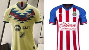 América - Chivas playeras