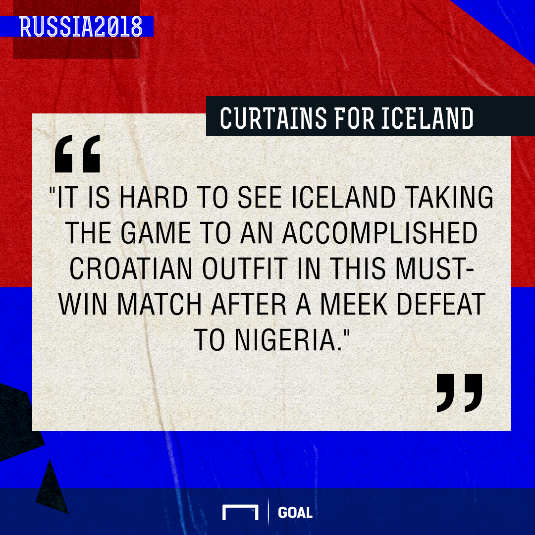 Iceland Croatia graphic