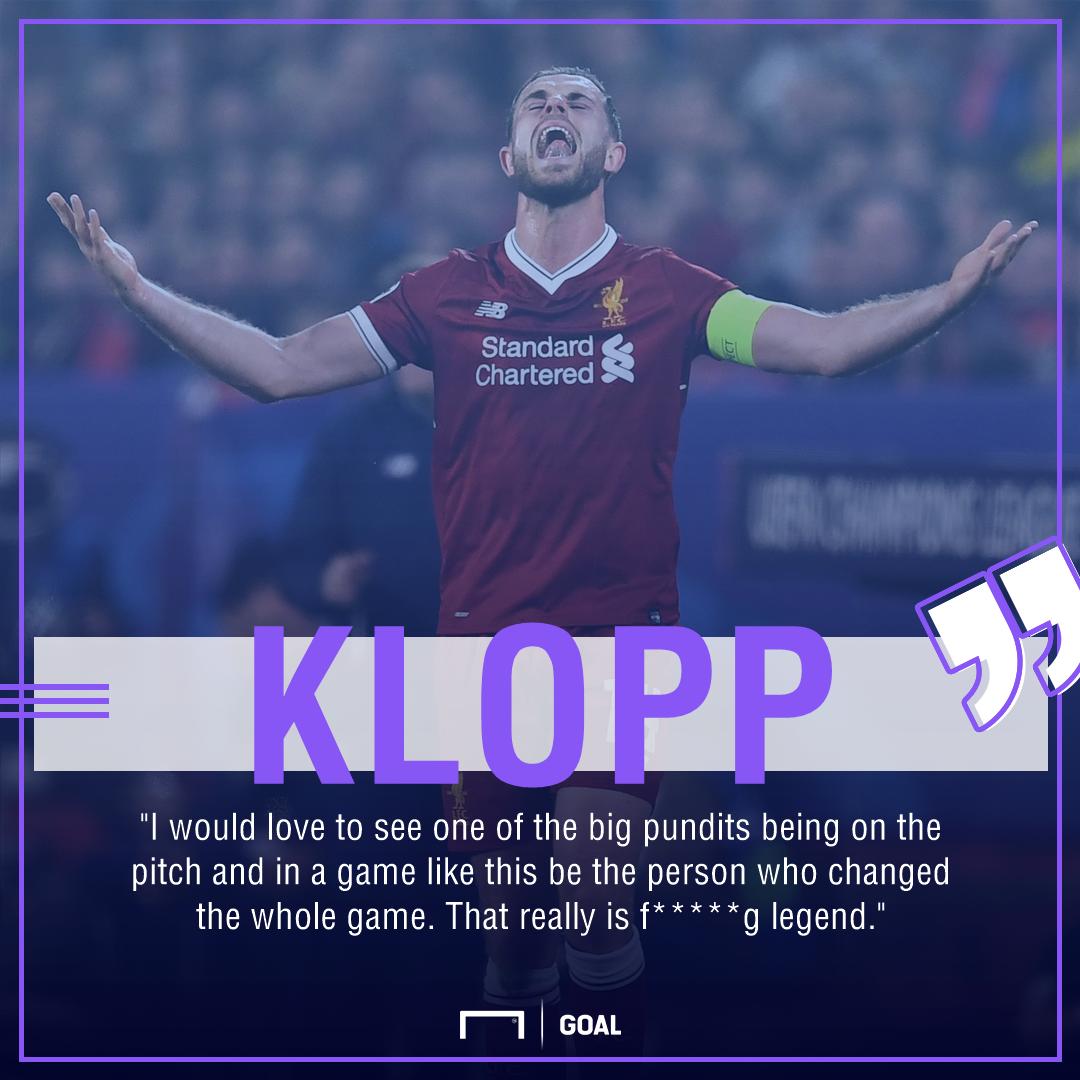 Jurgen Klopp Jordan Henderson Liverpool critics no legends