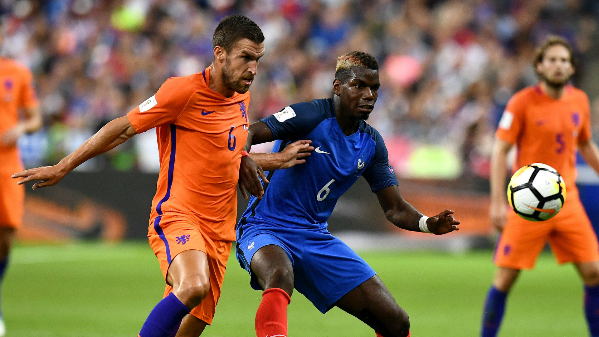 Kevin Strootman Paul Pogba France Netherlands