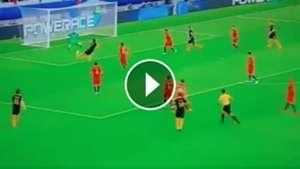 Bravo save to Luongo shot Chile Australia 250617