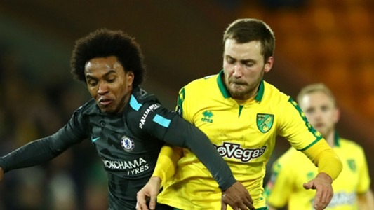 Willian Tom Trybull Chelsea Norwich