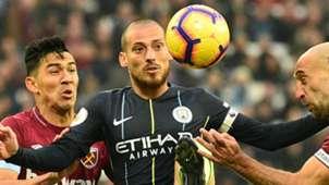 David Silva Manchester City 2018-19