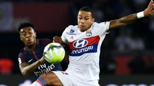 Memphis Depay Presnel Kimpembe PSG Lyon Ligue 1 17092017