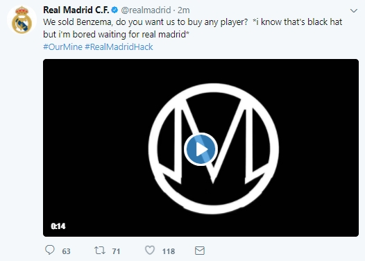 Real Madrid Twitter Hack 3