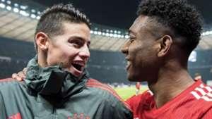 James Rodríguez David Alaba Bayern Munich 2019