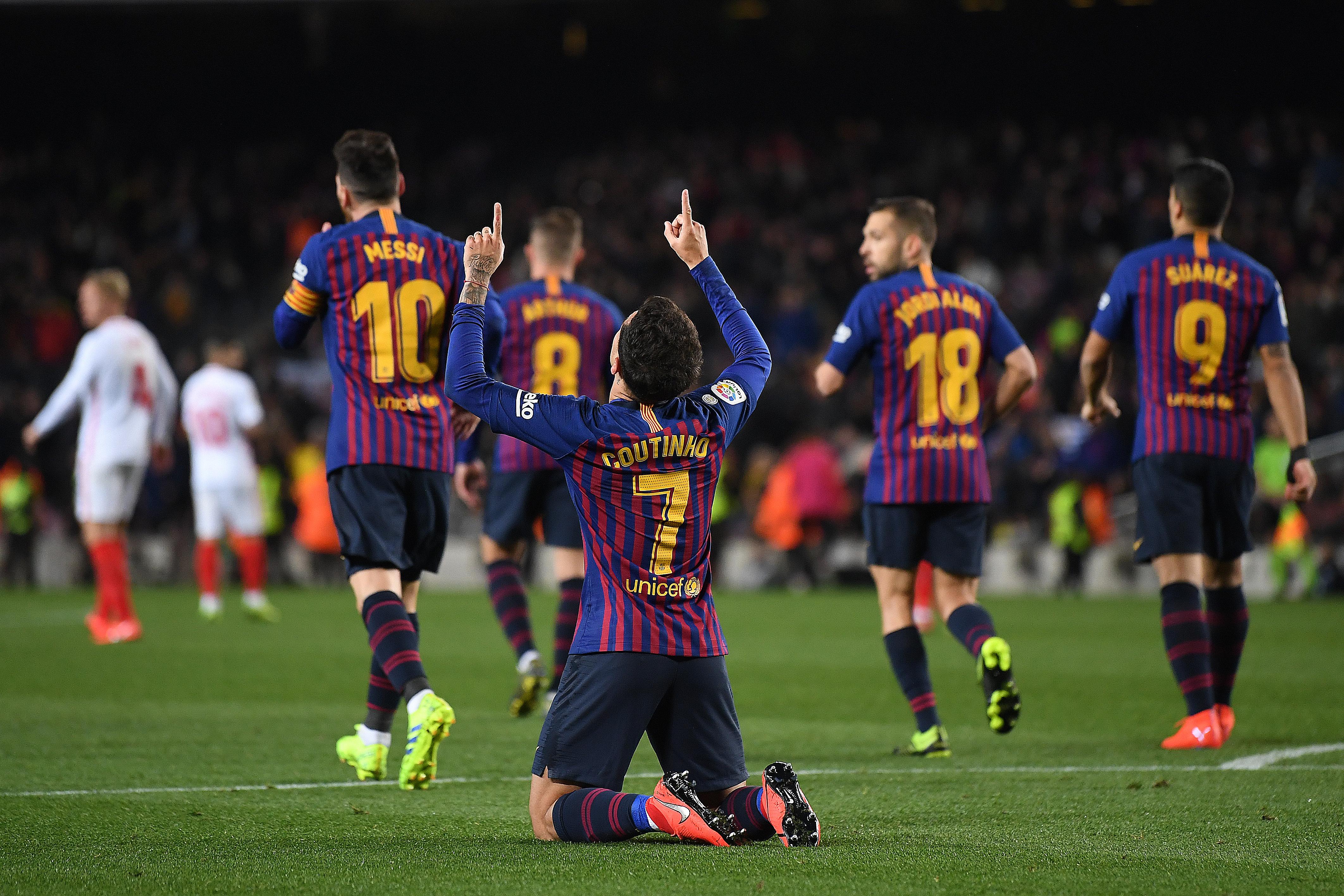Coutinho Barcelona Sevilla