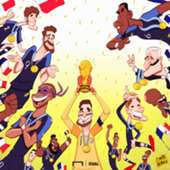 Cartoon France 2018 World Cup winner