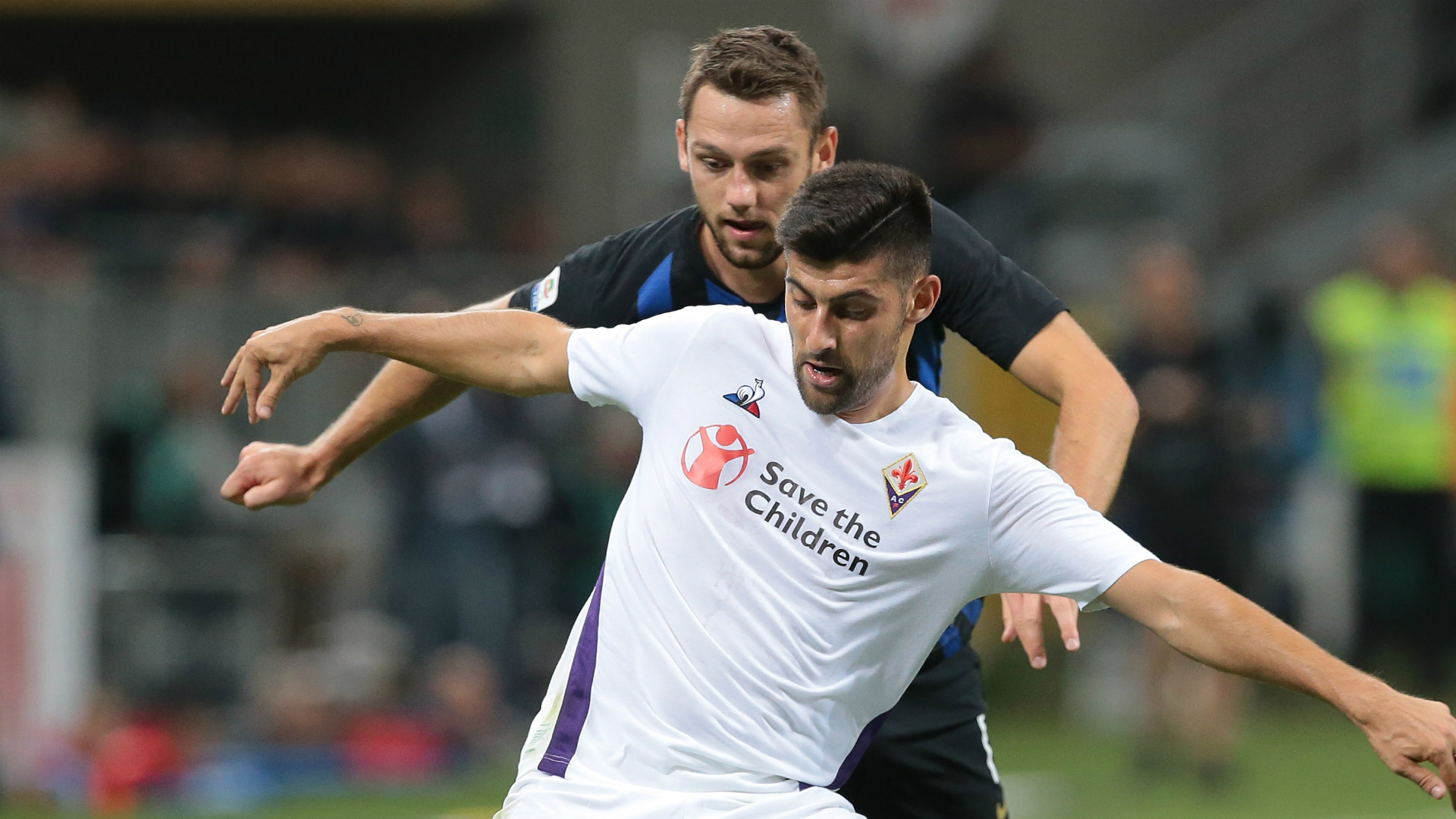 Stefan De Vrij Marco Benassi Inter Fiorentina Serie A