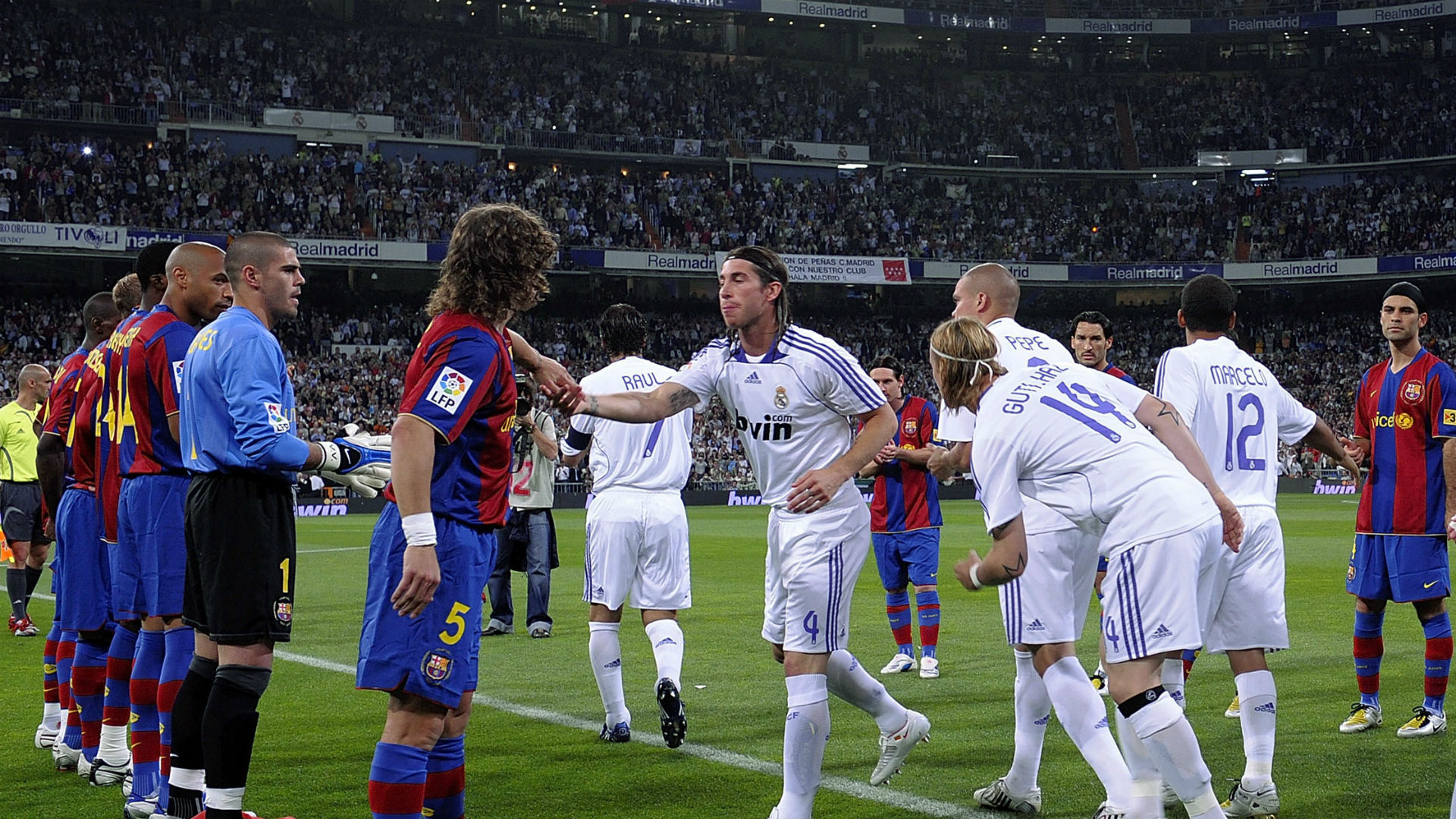 Barcelona Real Madrid pasillo 2008