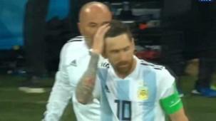 Messi Sampaoli talk