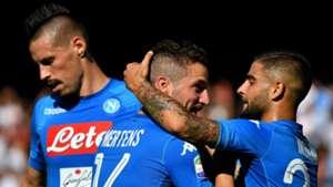Marek Hamsik Dries Mertens Lorenzo Insigne Napoli Benevento Serie A 09172017
