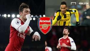 Pierre-Emerick Aubameyang Dortmund Mesut Ozil Mathieu Debuchy