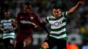 Nelson Semedo Marcos Acuña Sporting CP Barcelona UCL 27092017