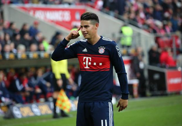 James Rodriguez Bayern Munich Mainz 03022018