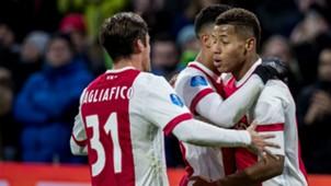 David Neres, Nicolas Tagliafico, Ajax - NAC Breda, Eredivisie, 05022018