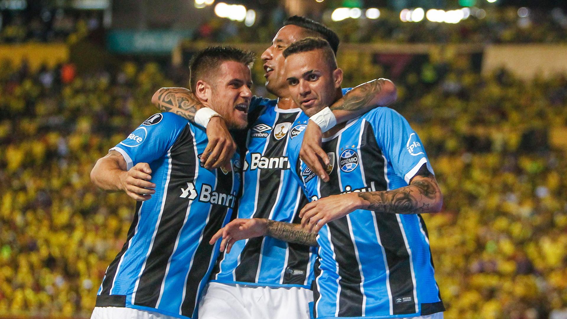 Luan Guilherme Ramiro Lucas Barrios Barcelona SC Gremio Copa Libertadores 25102017