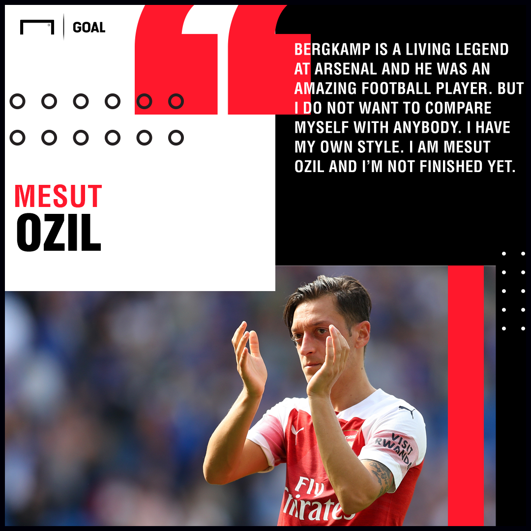 Mesut Ozil Dennis Bergkamp comparisons