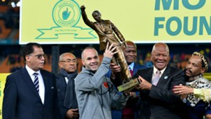 Andres Iniesta lifts Nelson Mandela Centenary Cup - May 16 2018