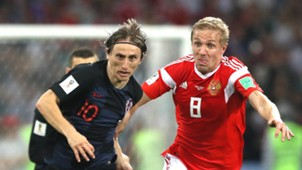 Luka Modric Iury Gazinsky Russia Croatia World Cup 2018 070718
