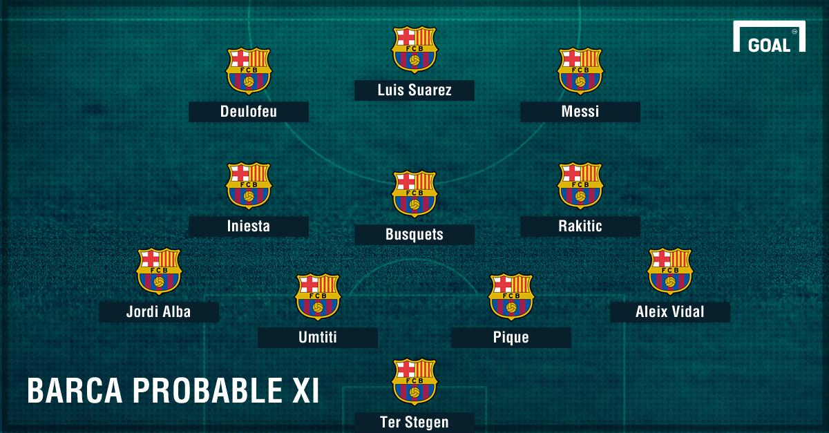 Barcelona probable Supercopa