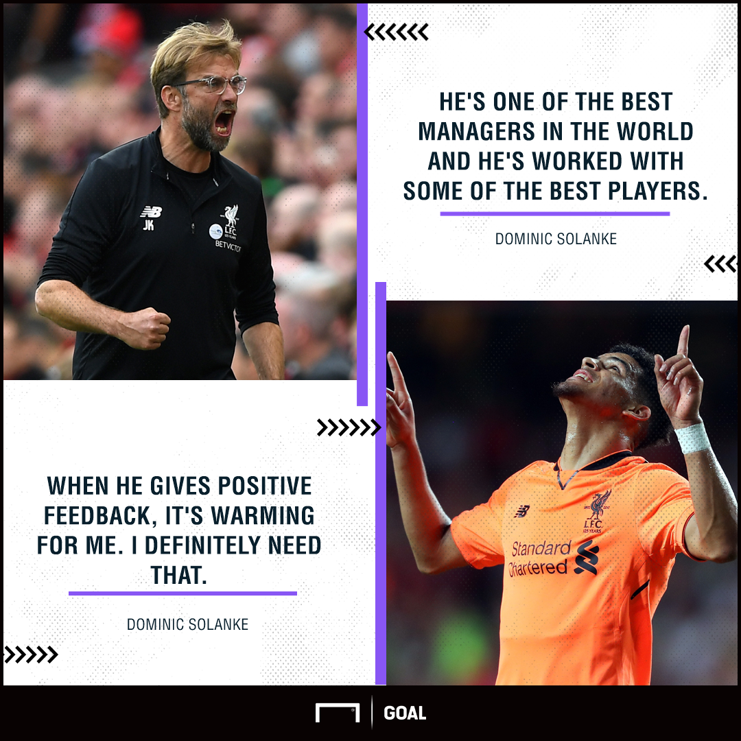 Dominic Solanke Jurgen Klopp best in the world