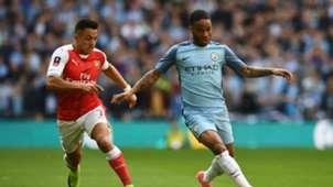 Alexis Sanchez Raheem Sterling Arsenal Manchester City