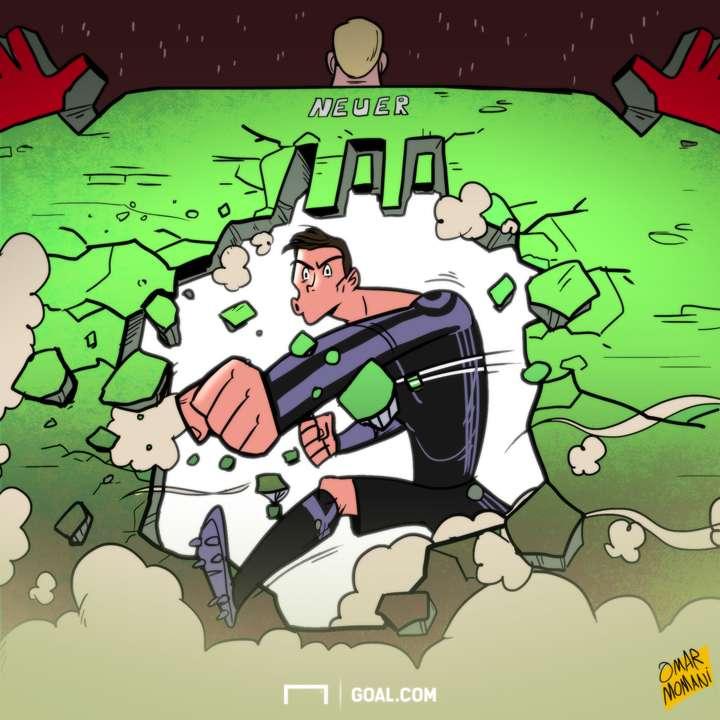 Cartoon - Ronaldo's 100 goal