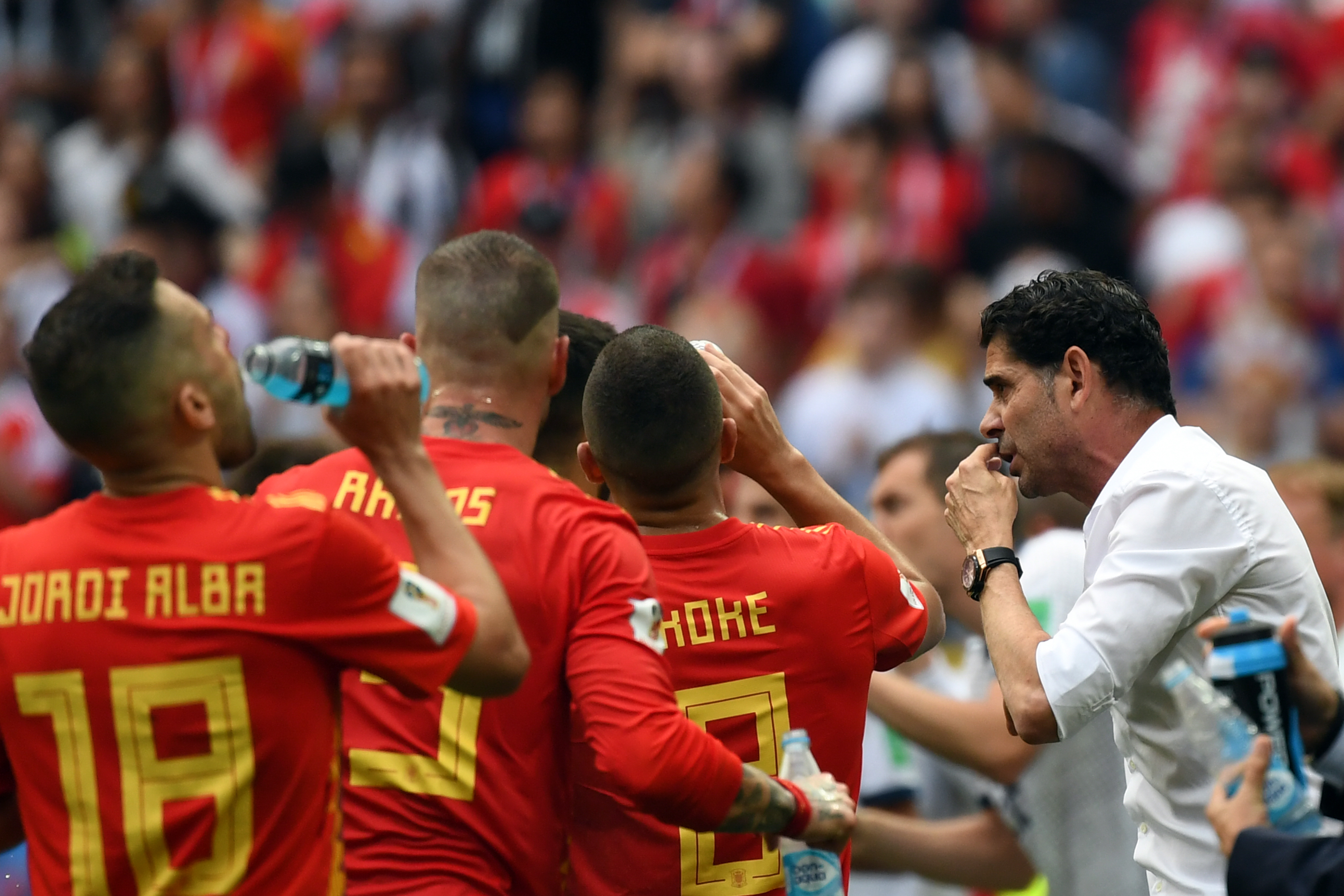 Jordi Alba Sergio Ramos Koke Fernando Hierro Spain Russia World Cup 07/01/18