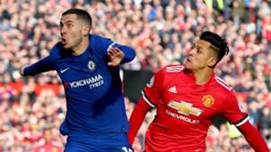 Eden Hazard Chelsea Alexis Sanchez Manchester United