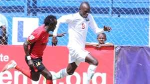 Harambee Stars striker Samuel Onyango v Uganda.j