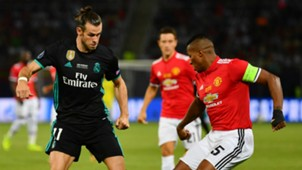 Gareth Bale Antonio Valencia Real Madrid Manchester United