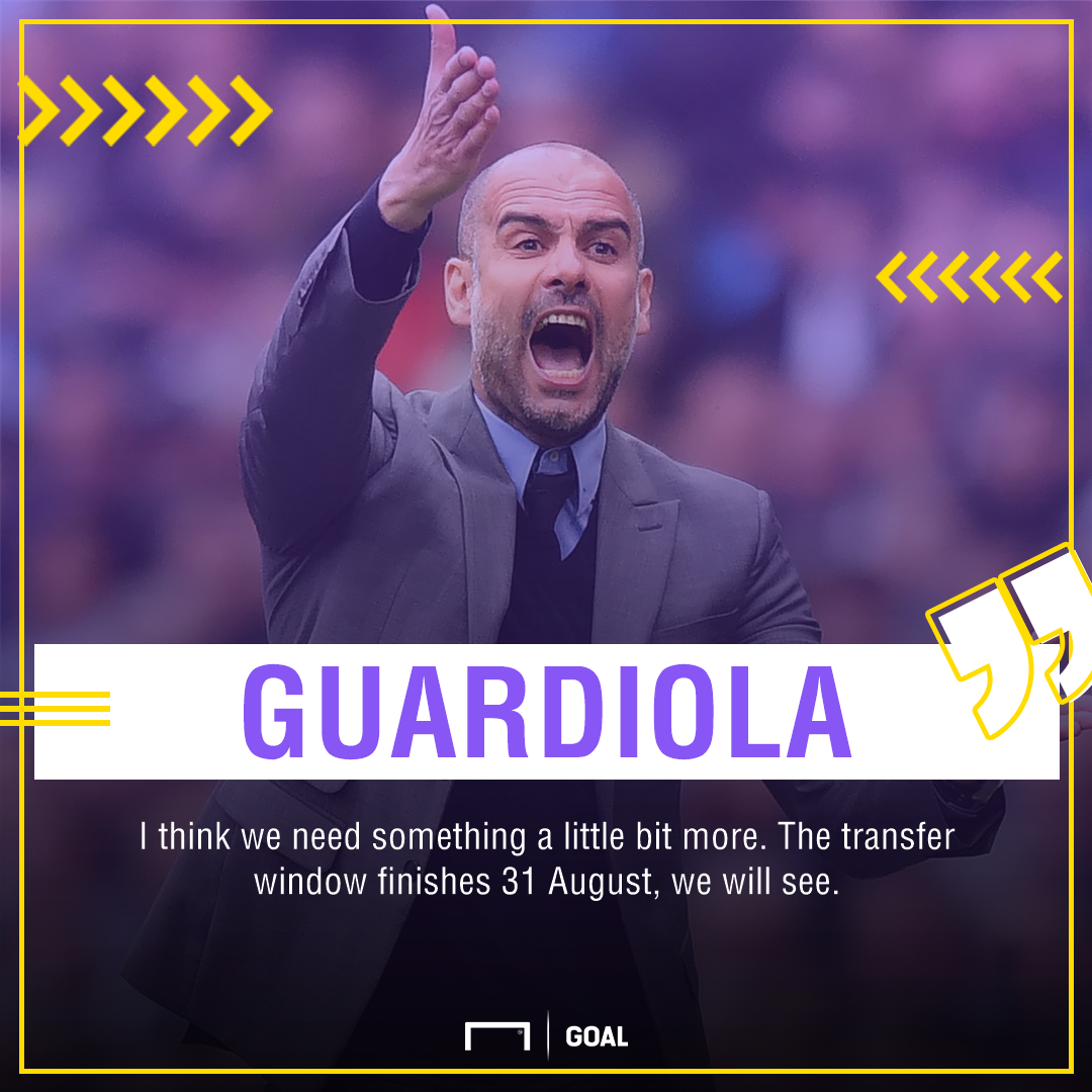 Pep Guardiola Manchester City transfer window