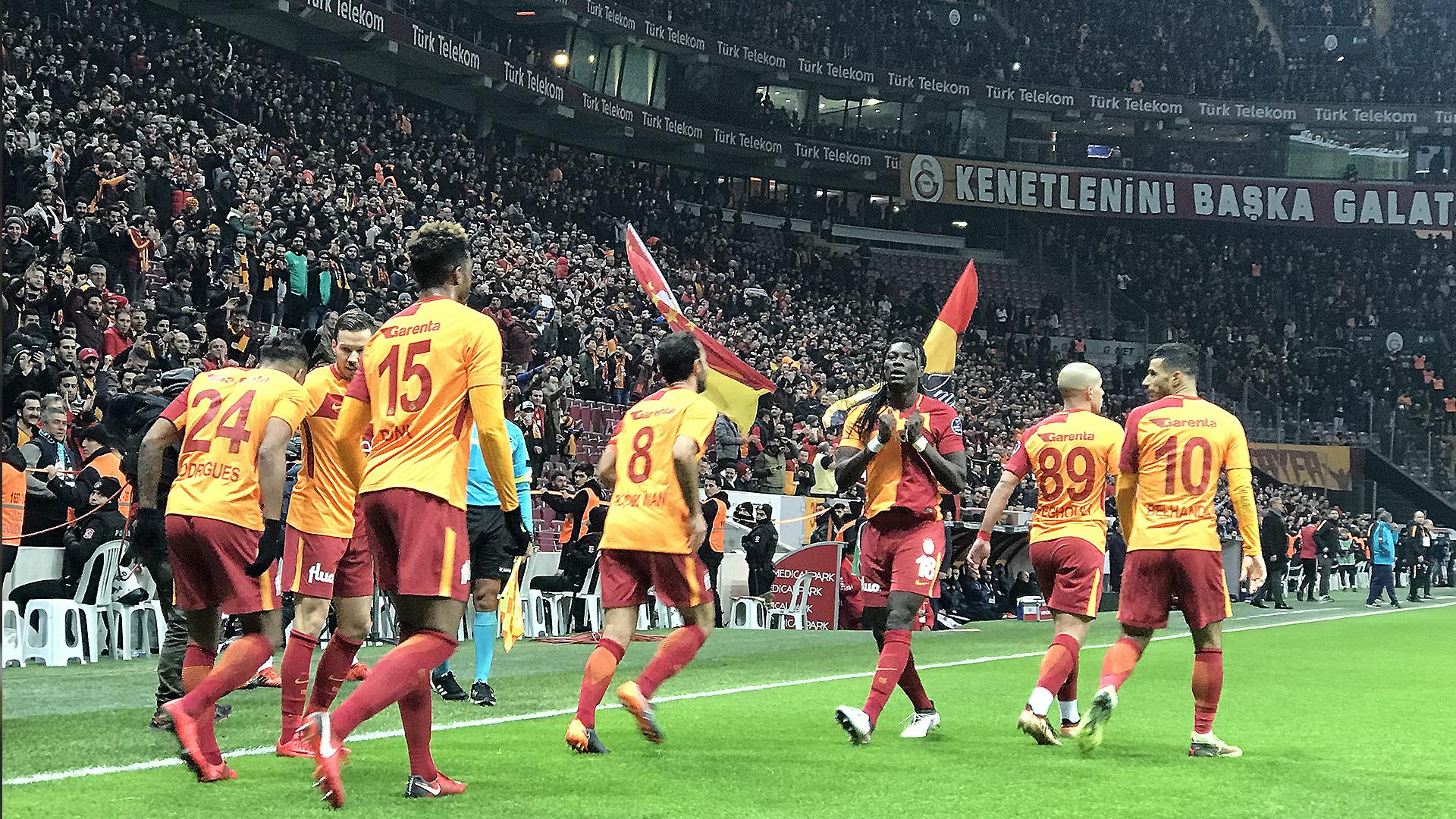 Galatasaray goal celebration Antalyaspor 02122018