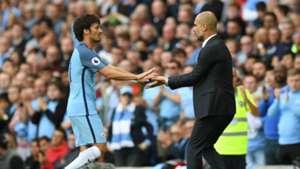 David Silva Pep Guardiola Manchester City