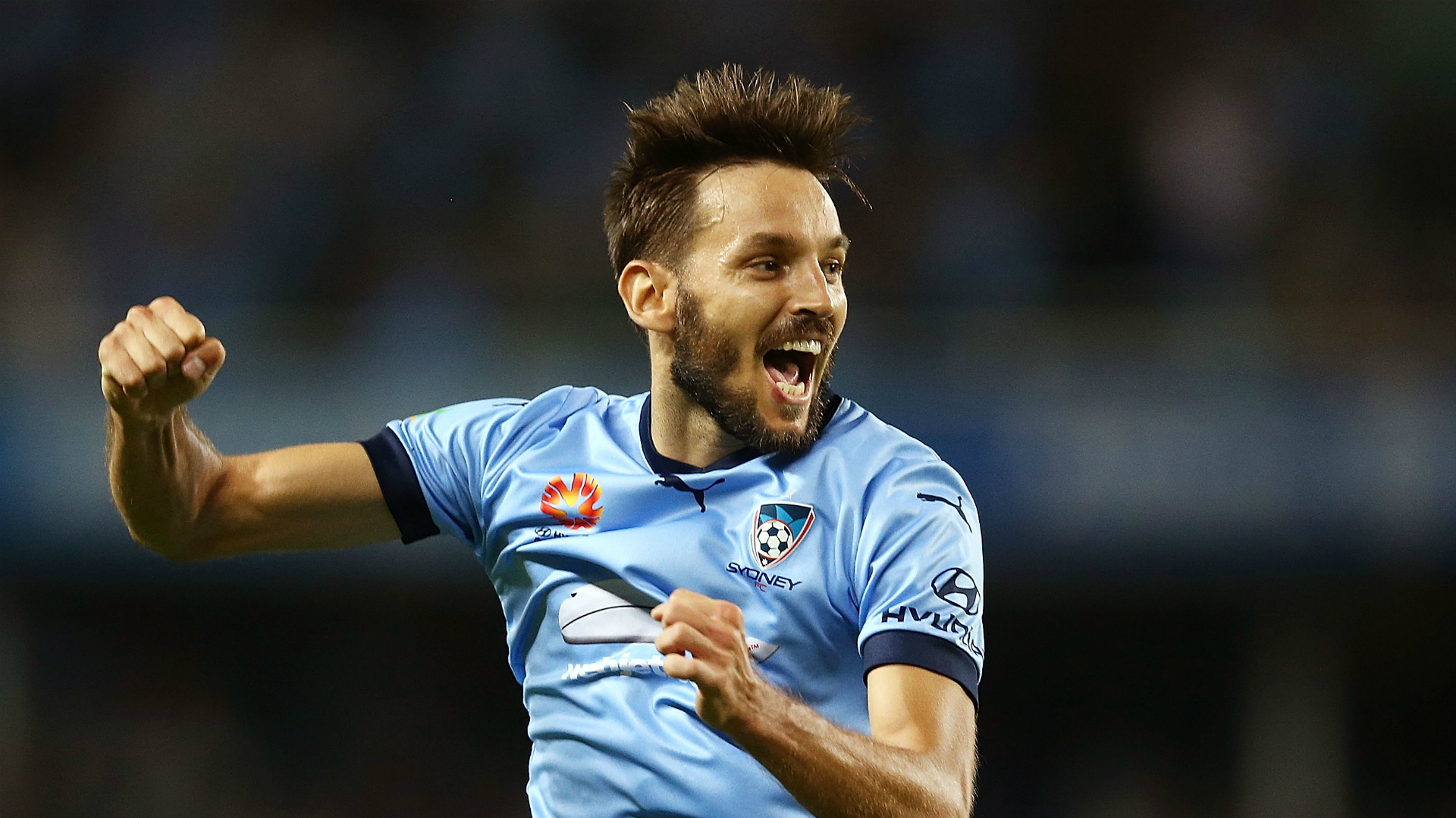 Milos Ninkovic Sydney FC v Brisbane Roar A-League 30122016