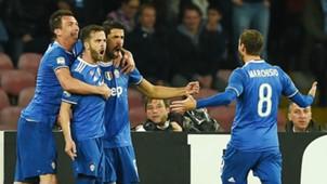 Mario Mandzukic, Miralem Pjanic, Sami Khedira, Claudio Marchisio, Juventus, Serie A, 04022017