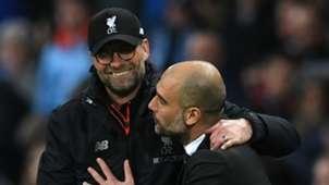 Pep Guardiola Jurgen Klopp Manchester City Liverpool 2016-17