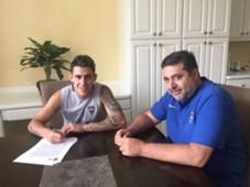 Daniel Angelici Cristian Pavon Boca Juniors